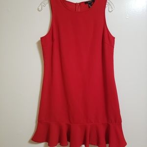 Forever 21 A-Line Red Dress with Ruffle Hem NWT